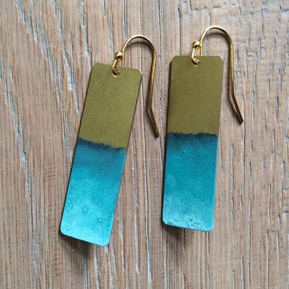 Brass Patina Bohemian Earrings